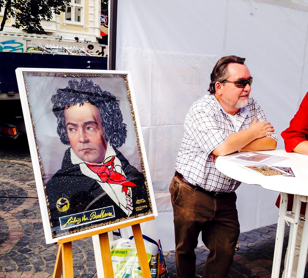 Beethoven Collage aus Nudeln - Beethovenfest